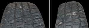 Image of out of shape tyre