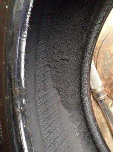 tyre damaged