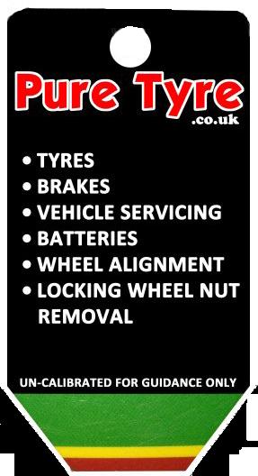 Tyre tread depth gauge keyring front