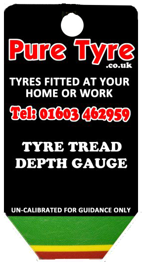 Tyre tread depth gauge keyring back