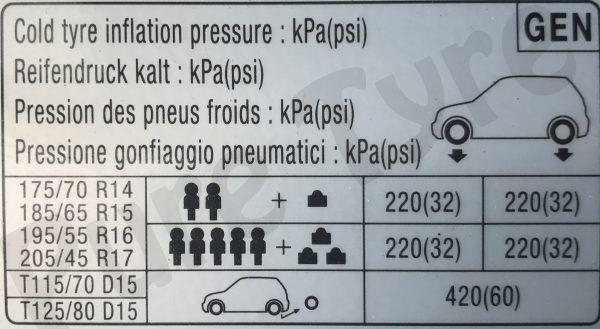 kia-rio-tyre-pressure-placard