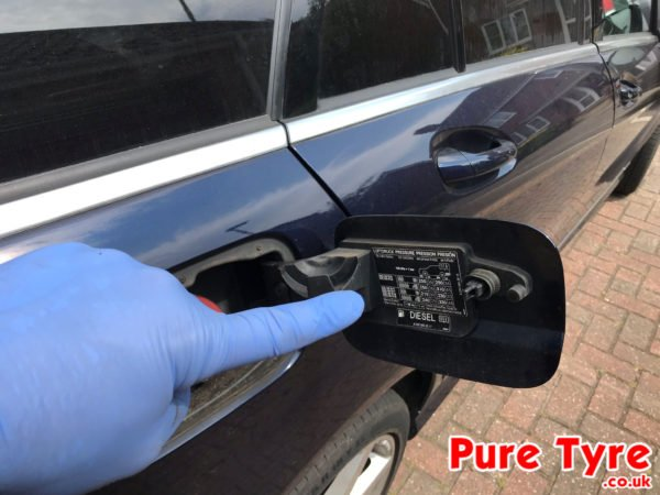 Car Battery Size Chart >> Mercedes Benz C Class Tyre Pressure Placard Location ...