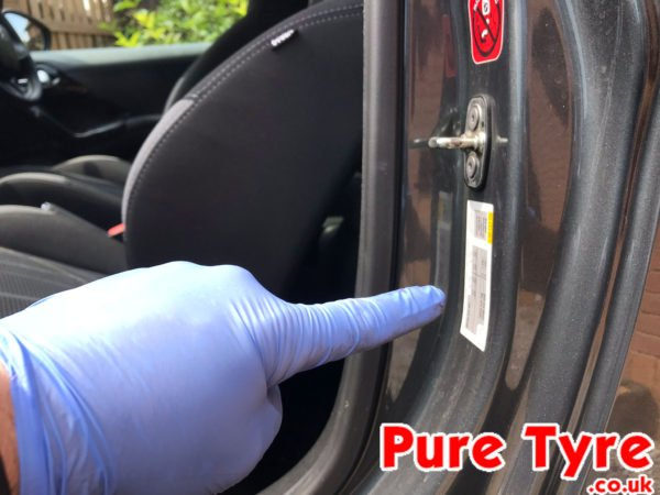 Car Battery Size Chart >> Peugeot 208 Tyre Pressure Placard Location | Pure Tyre ...
