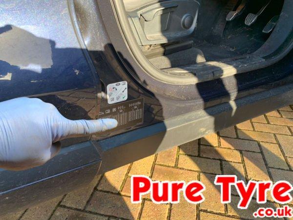 Jaguar F Pace Tyre Pressure Placard Location